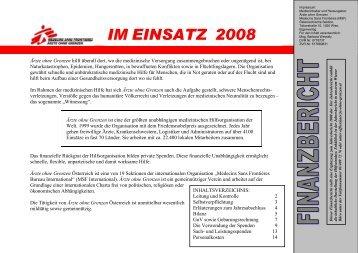 IM EINSATZ 2008 - Ärzte ohne Grenzen