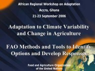 Adaptation to Climate Variability and Change in Agriculture