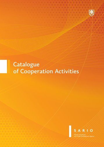 Catalogue of Cooperation Activities - Sario