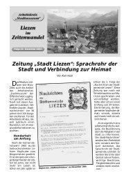 """Zeitung """"Stadt Liezen"""": Sprachrohr der Stadt und Verbindung zur ..."""