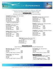 Charter Fishing Rates Download the complete fishing charters