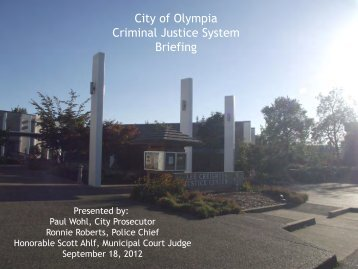 Officer takes Suspect to Oly Jail or TC Jail Jail Processes Individual ...