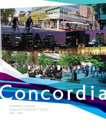 MontrÉal, Canada GUIdE dES ÉtUdES dE 1Er CYClE 2013 – 2014