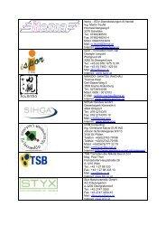 mitwirkenden Firmen... - itema