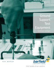 Ground Support Test Equipment - Barfield Inc.