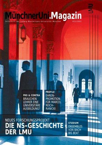 MünchnerUni.Magazin - Ludwig-Maximilians-Universität München