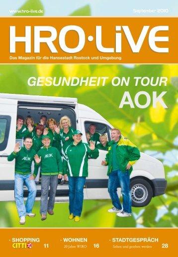 GESUNDHEIT ON TOUR AoK - HRO Live