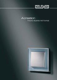 JUNG A creation 2008 - Frische Akzente mit Format - Elektrotechnik ...