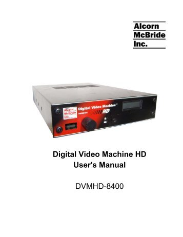 Alcorn DVM-8400 Video Player Windows 8