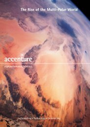 The rise of the multi-polar world - Accenture