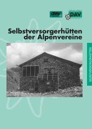 Verzeichnis der Selbstversorgerhütten des DAV ... - Sektion Bayreuth