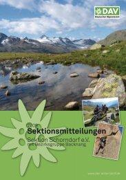Sektionsmitteilungen - DAV Sektion Schorndorf