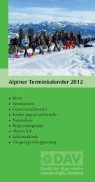 Alpiner Terminkalender 2012 - Deutscher Alpenverein Sektion ...