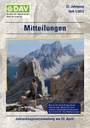 22. Jahrgang Heft 1/2012 Mitteilungen