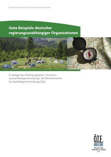 Gute Beispiele deutscher regierungsunabhängiger Organisationen