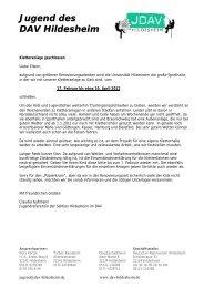 Jugend des DAV Hildesheim - Deutscher Alpenverein Sektion ...