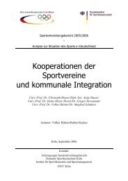 Kooperationen der Sportvereine und kommunale Integration