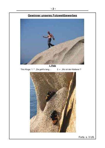 - 2 - Gewinner unseres Fotowettbewerbes - ALPENVEREIN HALLE ...