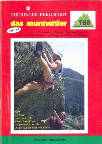 1995 Ausgabe 1 (4,5 MB) - Thüringer Bergsteigerbund e. V.