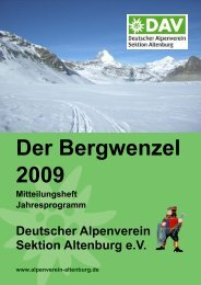 Der Bergwenzel 2009 - Deutscher Alpenverein Sektion Altenburg
