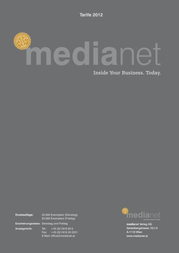 Formate und Tarife 2012 - MediaNET.at