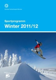 Sportprogramm München Winter 2011/12 - ZHS