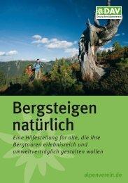Bergsteigen natürlich - Deutscher Alpenverein