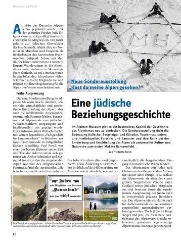 Eine jüdische Beziehungsgeschichte - Deutscher Alpenverein