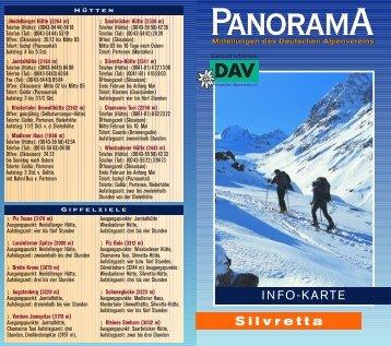 Infokarte Silvretta - Deutscher Alpenverein