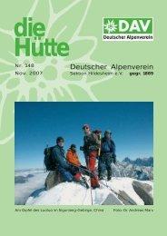 Inhalt-H.tte 148.qxd - Deutscher Alpenverein Sektion Hildesheim