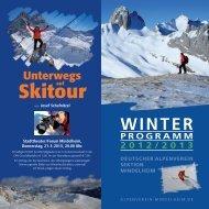 winter programm 2012/2013