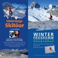 winter programm 2012/2013