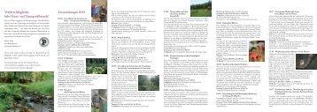 Veranstaltungen 2011 - Naturpark Münden