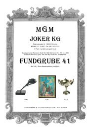 MGM FUNDGRUBE 40 - MGM Muenzgalerie