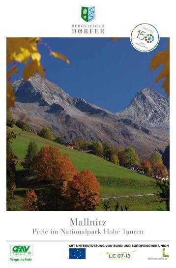 """Mallnitz - Perle im Nationalpark Hohe Tauern"" 2 ... - Bergsteigerdörfer"