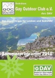 Sektion des DAV Gay Outdoor Club eV Der Alpenverein für ... - NAPEX