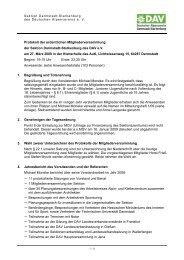 Protokoll der ordentlichen Mitgliederversammlung der Sektion ...