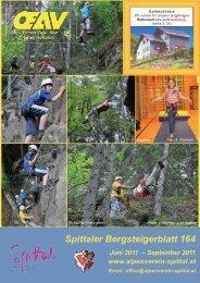 Spittaler Bergsteigerblatt 164 Juni 2011 - Alpenverein Spittal/Drau