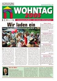 """Wir laden ein - Wohnungsbau-Genossenschaft """"Treptow-Nord"""" eG"""
