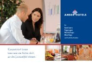 Seminare Tagungen Workshops Meetings - Amber Hotels