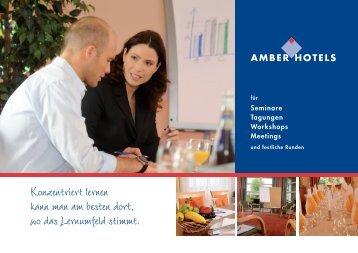 Seminare Tagungen Workshops Meetings - Amber Hotels