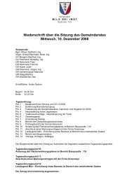 Niederschrift über die Sitzung des Gemeinderates ... - Mils bei Imst
