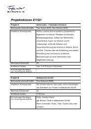 Projektskizzen E1/Q1 - Tilemannschule