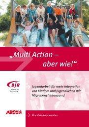 """Projekt """"Multi Action – aber wie!"""" - Bayerischer Jugendring"""