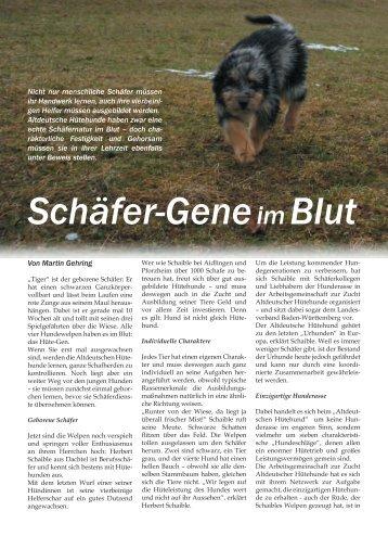 Schäfer-Geneim Blut - BW-Reporter