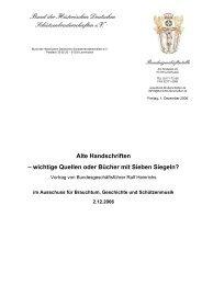 Alte Handschriften - Bund der Historischen Deutschen ...
