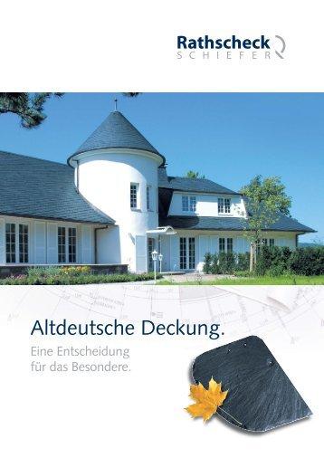 Altdeutsche Deckung.