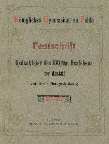 1905 »Festschrift zur Gedenkfeier des 100 jähr. Bestehens