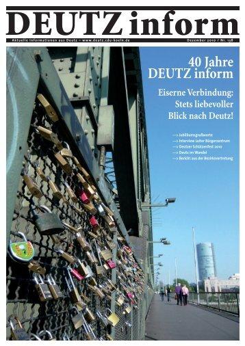 40 Jahre DEUTZ inform - DEUTZ inform | Informationen aus Deutz