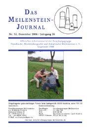 Meilensteinjournals - Forschungsgruppe Meilensteine e.V.